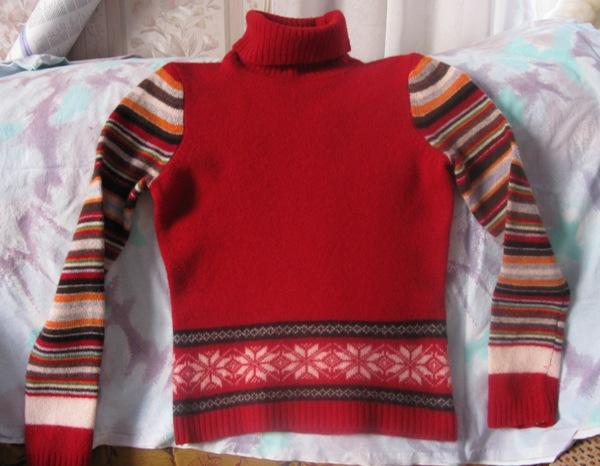 Севший шерстяной свитер - печальное зрелище. Фото с сайта mabuka-club.ru