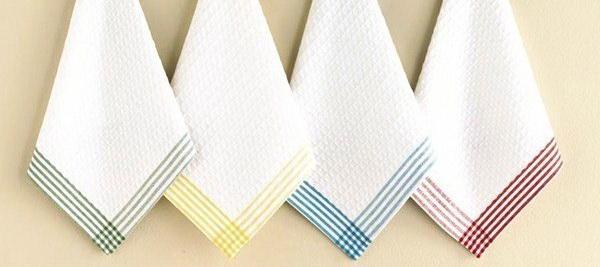 Народные способы, как отбелить кухонные полотенца и вывести с них жирные пятна в домашних условиях