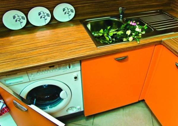 Стиральная машина на кухне: как все сделать грамотно