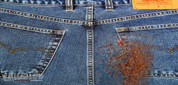 Как удалить пятна ржавчины на одежде в