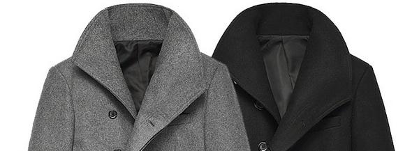фото пальто драповое черное пальто