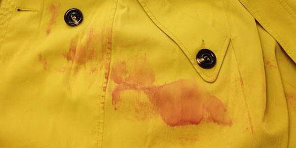 Как очистить пятно на пальто фото